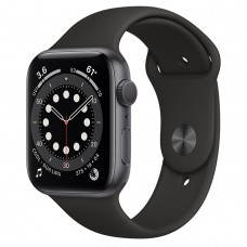Часы Apple Watch Series 6 GPS 44mm Space Gray Aluminum Case with Black Sport Band