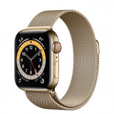 Часы Apple Watch Series 6 GPS+Cellular 44mm Gold Stainless Steel Case with Gold Milanese Loop