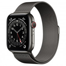 Часы Apple Watch Series 6 GPS+Cellular 44mm Graphite Stainless Steel Case with Graphite Milanese Loop