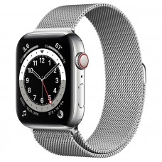 Часы Apple Watch Series 6 GPS+Cellular 40mm Silver Stainless Steel Case with Silver Milanese Loop