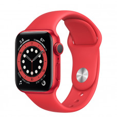 Часы Apple Watch Series 6 GPS 40mm PRODUCT (RED) Aluminum Case with Red Sport Band  M00A3RU/A