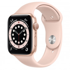 Часы Apple Watch Series 6 GPS 44mm Gold Aluminum Case with Pink Sand Sport Band