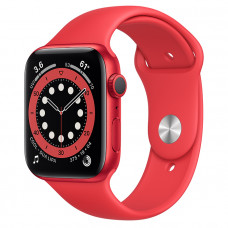 Часы Apple Watch Series 6 GPS 44mm PRODUCT(RED) Aluminum Case with Red Sport Band