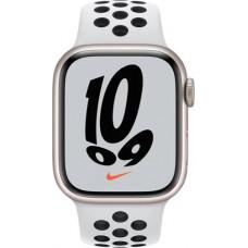 Умные часы Apple Watch Nike S7 GPS 41mm Starlight Aluminium Case with Pure Platinum/Black Sport Band (MKN33RU/A)
