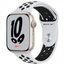 Умные часы Apple Watch Nike S7 GPS 45mm Starlight Aluminium Case with Pure Platinum/Black Sport Band (MKNA3RU/A)