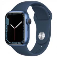 Умные часы Apple Watch Series 7 GPS 45mm Blue Aluminium Case with Abyss Blue Sport Band (MKN83RU/A)