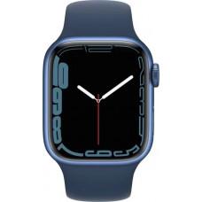 Умные часы Apple Watch Series 7 GPS 41mm Blue Aluminium Case with Abyss Blue Sport Band (MKN13RU/A)
