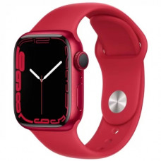 Умные часы Apple Watch Series 7 GPS 45mm (PRODUCT) RED Aluminium Case with Sport Band (MKN93RU/A)