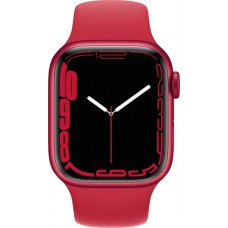 Умные часы Apple Watch Series 7 GPS 41mm (PRODUCT) RED Aluminium Case with Sport Band (MKN23RU/A)