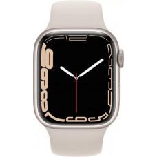 Умные часы Apple Watch Series 7 GPS 41mm Starlight Aluminium Case with Sport Band (MKMY3RU/A)