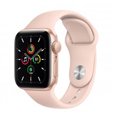 Часы Apple Watch SE GPS 40mm Gold Aluminum Case with Pink Sand Sport Band