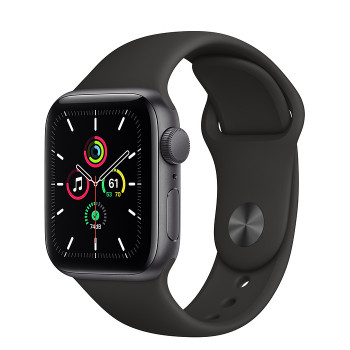 Часы Apple Watch SE GPS 40mm Space Gray Aluminum Case with Black Sport Band