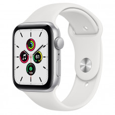 Часы Apple Watch SE GPS 44mm Silver Aluminum Case with White Sport Band