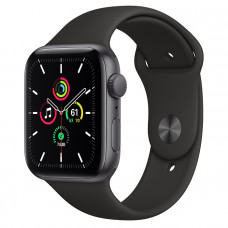 Часы Apple Watch SE GPS 44mm Space Gray Aluminum Case with Black Sport Band MYDT2