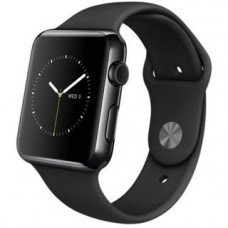 Apple Watch 42mm Space Black Stainless Steel Case with Black Sport Band MLC82