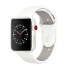 Часы Apple Watch Edition Series 3 GPS + Cellular 38mm White Ceramic Case with Soft White/Pebble Sport MQJY2