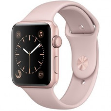 Apple Watch Series 2 42mm Rose Gold Aluminum Case With Pink Sand Sport band MQ142