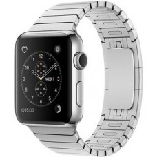 Apple Watch Series 2 42mm Stainless Steel Case with Silver Link Bracelet Band MNPT2