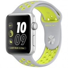 Apple Watch Series 2 Nike+ 42mm Silver Aluminum Case with Flat Silver/Volt Nike Sport Band MNYQ2