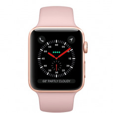 Часы Apple Watch Series 3 GPS 42mm Gold Aluminum Case with Pink Sand Sport Band MQL22