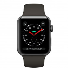 Часы Apple Watch Series 3 GPS 38mm Space Gray Aluminum Case with Black Sport Band