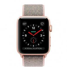 Часы Apple Watch Series 3 Cellular 38mm Gold Aluminum Case with Pink Sand Sport Loop MQJU2 MUKL2