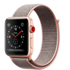 Часы Apple Watch Series 3 Cellular 42mm Gold Aluminum Case with Pink Sand Sport Loop MQK72