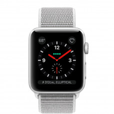 Часы Apple Watch Series 3 Cellular 38mm Silver Aluminum Case with Seashell Sport Loop MQJR2 MQKJ2