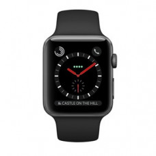 Часы Apple Watch Series 3 Cellular 38mm Space Black Stainless Steel Case with Black Sport Band MQJW2