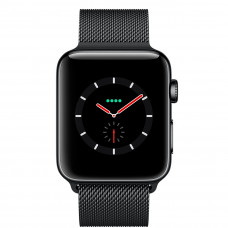Часы Apple Watch Series 3 Cellular 38mm Space Black Stainless Steel Case with Space Black Milanese Loop MR1H2