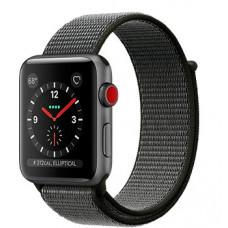 Часы Apple Watch Series 3 Cellular 42mm Space Gray Aluminum Case with Dark Olive Sport Loop MQK62
