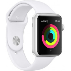 Часы Apple Watch Series 3 GPS 38mm Silver Aluminum Case with White Sport Band MTEY2RU/A