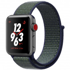 Apple Watch Series 3 Nike+ Cellular 38mm Space Gray Aluminum Case with Midnight Fog Nike Sport Loop MQLA2
