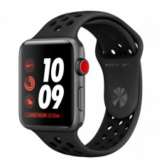 Apple Watch Nike+ 42mm Series 3 GPS + Cellular Space Gray Aluminum Case with Anthracite/Black Nike Sport Band MQLD2