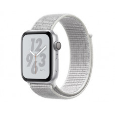 Часы Apple Watch Nike+ Series 4 GPS 44mm Silver Aluminum Case with Summit White Nike Sport Loop MU7H2