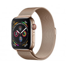 Часы Apple Watch Series 4 Cellular 40mm Gold Stainless Steel Case with Gold Milanese Loop