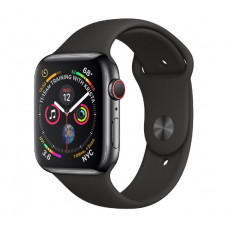 Часы Apple Watch Series 4 Cellular 40mm Space Black Stainless Steel Case with Black Sport Band MTUN2 MTVL2