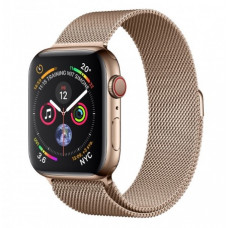 Часы Apple Watch Series 4 Cellular 44mm Stainless Steel with Milanese Loop Gold MTX52 MTV82
