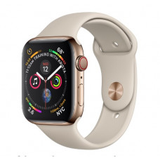 Часы Apple Watch Series 4 Cellular 40mm Gold Stainless Steel Case with Stone Sport Band MTUR2, MTVN2