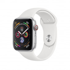 Часы Apple Watch Series 4 Cellular 40mm Silver Aluminum Case with White Sport Band MTUD2