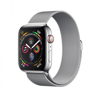 Часы Apple Watch Series 4 GPS + Cellular 44mm Stainless Steel with Milanese Loop Silver