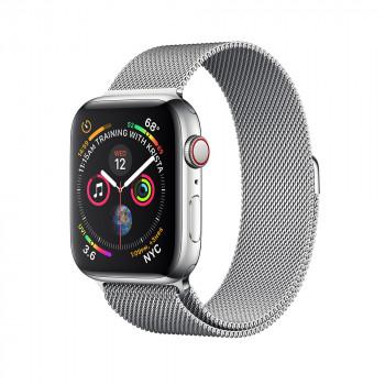 Часы Apple Watch Series 4 GPS + Cellular 44mm Stainless Steel with Milanese Loop Silver MTX12 (MTV42)