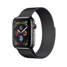 Часы Apple Watch Series 4 GPS + Cellular 44mm Stainless Steel with Milanese Loop Space Black MTX32