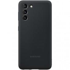 Чехол для Samsung Silicone Cover S21 Black Чёрный