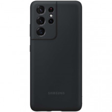 Чехол для для Samsung Silicone Cover S21 Ultra Black Чёрный (EF-PG998)