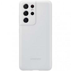 Чехол для Samsung Silicone Cover S21 Ultra Light Gray Серая (EF-PG998)