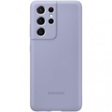 Чехол Samsung Silicone Cover S21 Ultra Violet Фиолетовый (EF-PG998)