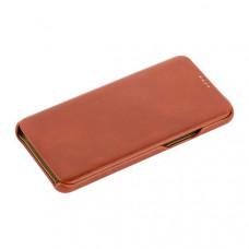 Чехол-книжка кожаный i-Carer для Samsung GALAXY S9 SM-G960F Curved Edge (округлые края) Vintage Series (RS99201) Коричневый