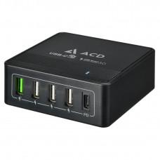 Сетевое зарядное устройство (СЗУ) USB ACD-Power P605U (5xUSB (1PD+1QC+3Smart; 60Вт))