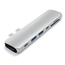 """Адаптер Satechi Aluminum Type-C Pro для MacBook Pro 13""""/15"""" c 2016 г. ST-CMBPS Silver (серебристый)"""